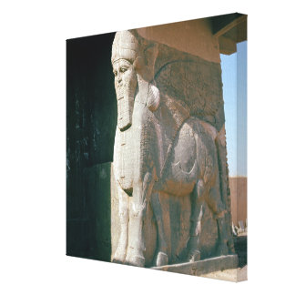 Winged human-headed bull, Neo-Assyrian Period Canvas Print