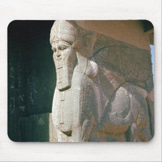 Winged humano-dirigió el toro, período Neo-Asirio Alfombrillas De Ratón