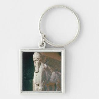 Winged humano-dirigió el toro, período Neo-Asirio Llaveros Personalizados