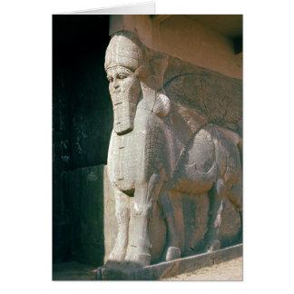 Winged humano-dirigió el toro, período Neo-Asirio Tarjeta De Felicitación