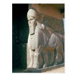 Winged humano-dirigió el toro, período Neo-Asirio Tarjetas Postales