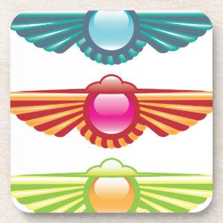 Winged Icon Logo Vector Drink Coaster