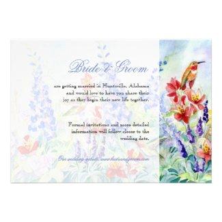 Winged Jewels Hummingbirds - Save the Date Custom Invitation
