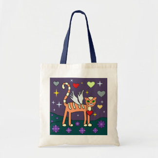 Winged Kitty with Heart Custom  Bag
