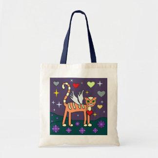 Winged Kitty with Heart Custom  Bag