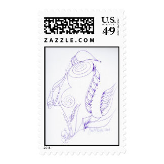 Winged Labyrinth Postage Stamps