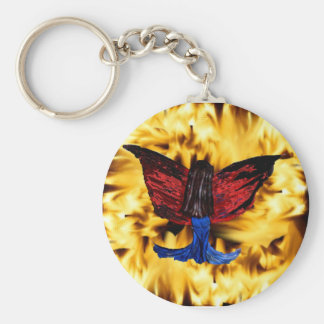 winged lady in the fire keychain