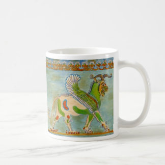 Winged Lion by S Ambrose Classic White Coffee Mug