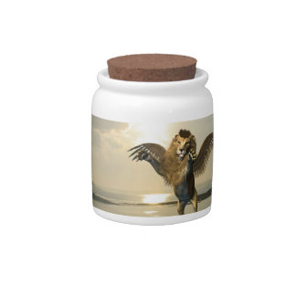 Winged Lion Candy Jar