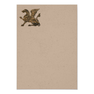 Winged lion card