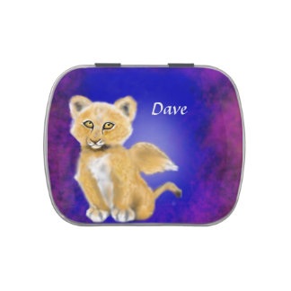 Winged Lion Cub Candy Tin