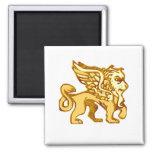 Winged Lion Fridge Magnets