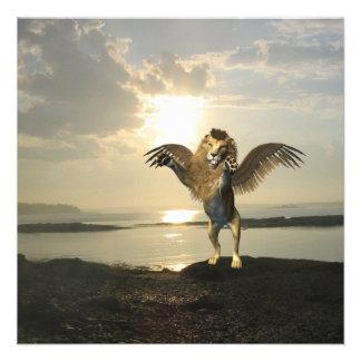Winged Lion Invitations
