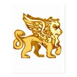 Winged Lion Postcard
