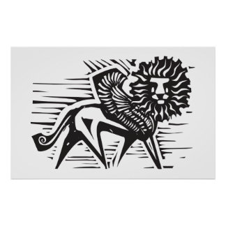 Winged Lion Poster