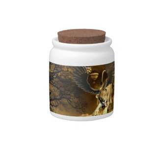 Winged Lioness  Candy Jar