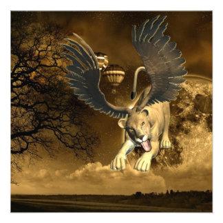 Winged Lioness  Invitations
