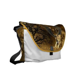 Winged Lioness  Messenger Bag