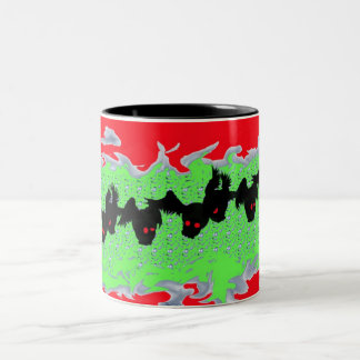 Winged madness hot beverage containers Two-Tone coffee mug