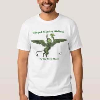 Winged Monkey Airlines Four T Shirt