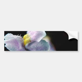 Winged Monkey Flower Car Bumper Sticker