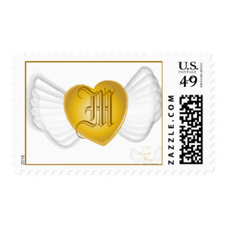 Winged Monogram Postage-Customize