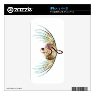 Winged Music iPhone 4S Skin