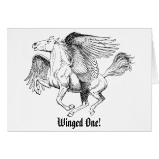 Winged One! - *Just Saying Hi* Greeting Card