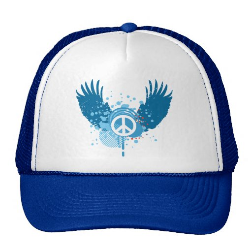 Winged Peace Sign Trucker Hat