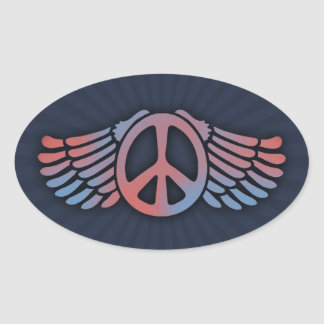 Winged Peace Stickers