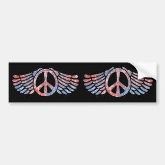 Winged Peace Symbol Bumper Sticker