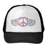 Winged Peace Symbol Hats