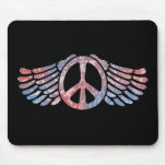 Winged Peace Symbol Mouse Pad