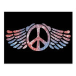 Winged Peace Symbol Post Cards