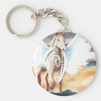 Winged Pegasus CricketDiane Art & Design Keychain
