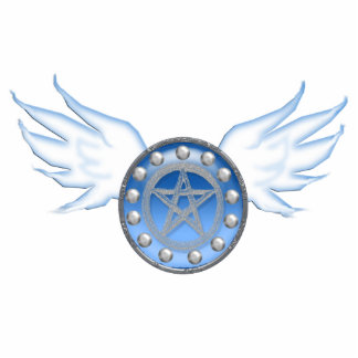 winged pentacle blue cut out