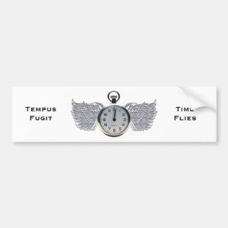 Winged Pocket Watch Bumper Sticker