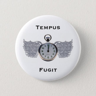 Winged Pocket Watch Button
