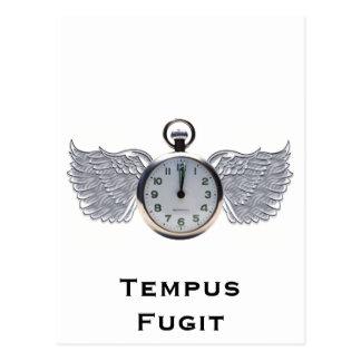 Winged Pocket Watch Postcard