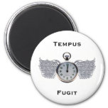 Winged Pocket Watch Refrigerator Magnet