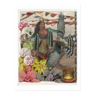 winged postcard