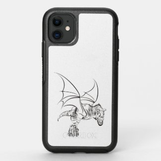 Winged Raptor / Tribal OtterBox Symmetry iPhone 11 Case