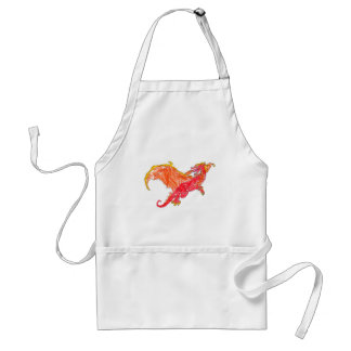 Winged Red Dragon Adult Apron