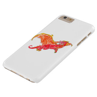 Winged Red Dragon Barely There iPhone 6 Plus Case