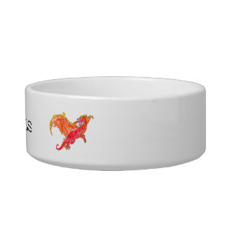 Winged Red Dragon Bowl