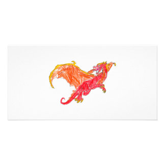 Winged Red Dragon Card