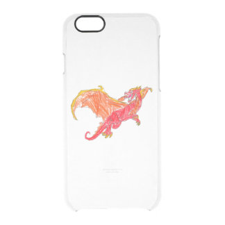 Winged Red Dragon Clear iPhone 6/6S Case