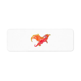 Winged Red Dragon Label