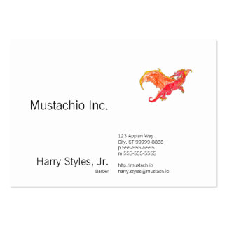 Winged Red Dragon Large Business Cards (Pack Of 100)