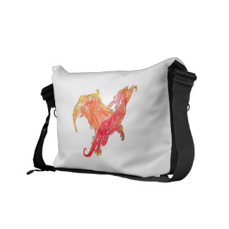 Winged Red Dragon Courier Bag